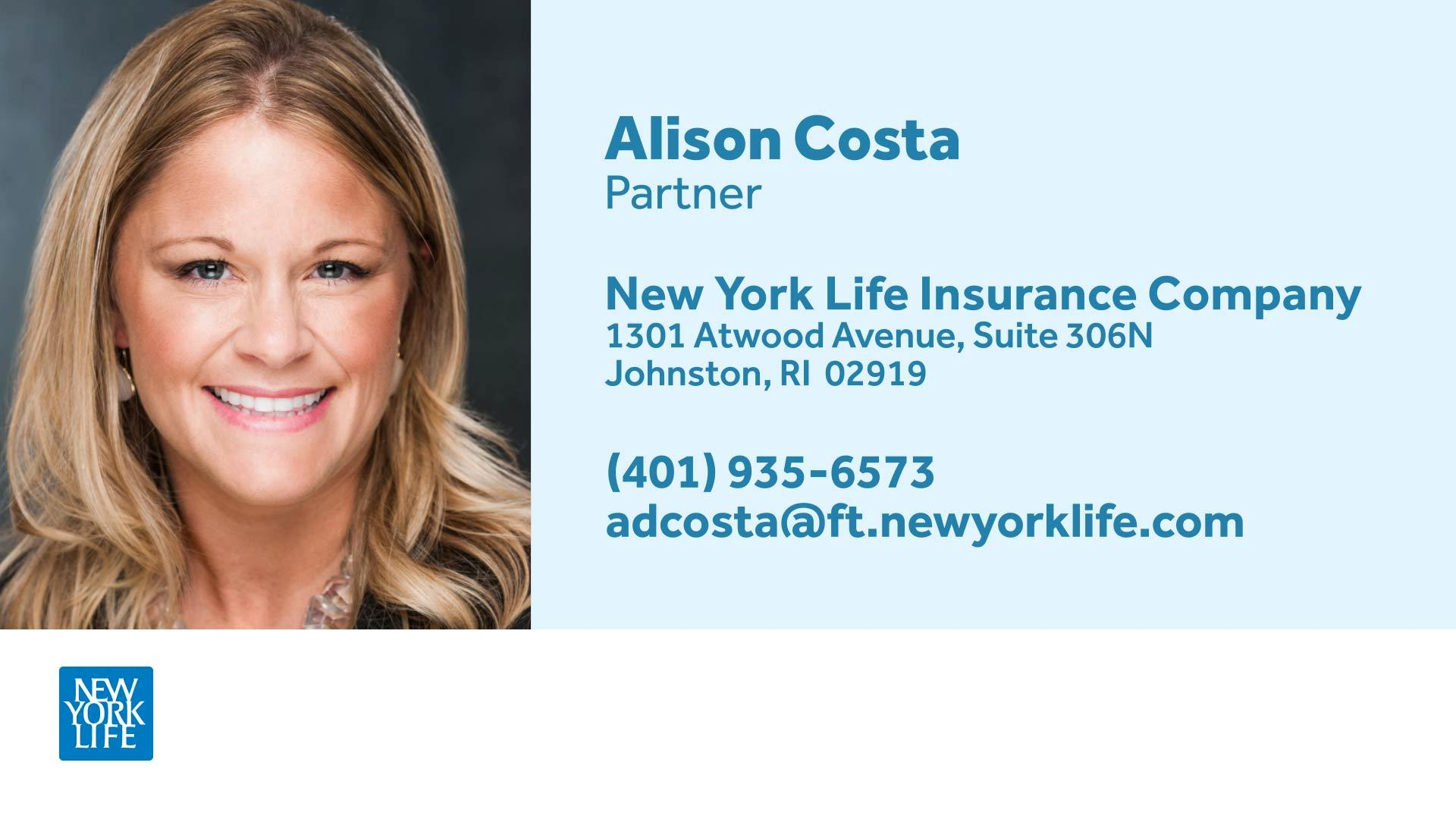 ALISON D. COSTA  New York Life Partner