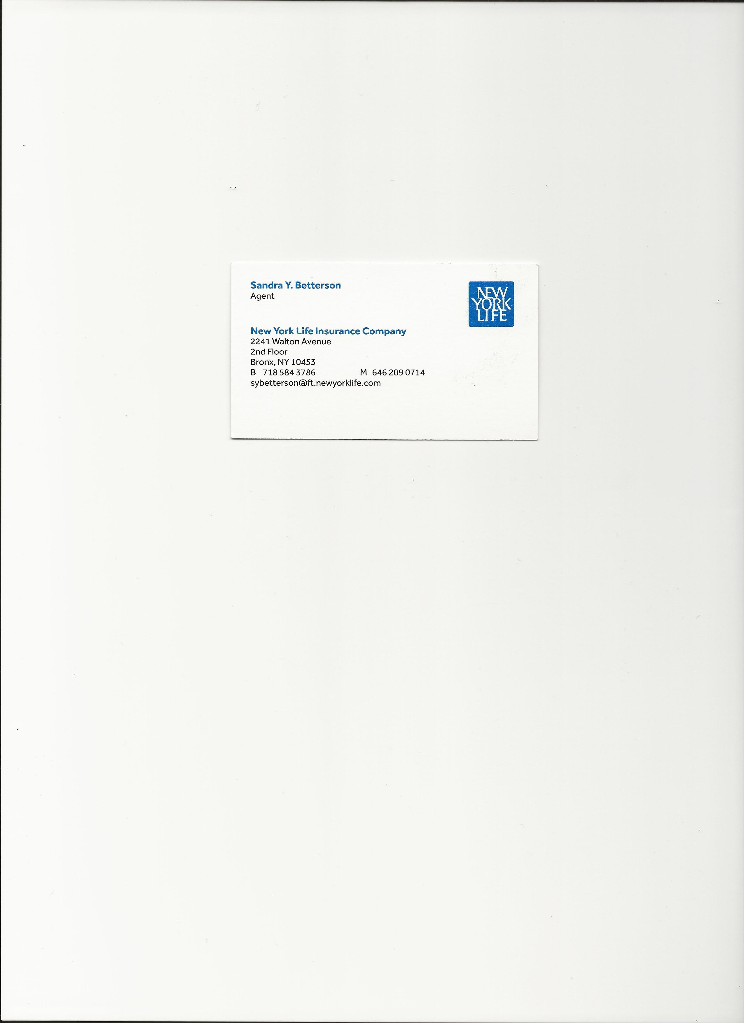 SANDRA YVETTE BETTERSON  Your Financial Professional & Insurance Agent